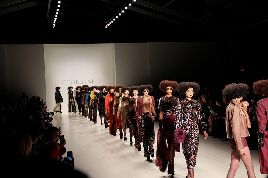 The NYFW FW15 runway shows like the collection featured by Georgine were inspired by looks from the 70s.