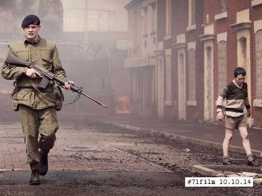 """Jack O'Connell, left, plays Gary Hook in """"71,"""" a 2014 film about the 30-year conflict in Northern Ireland."""