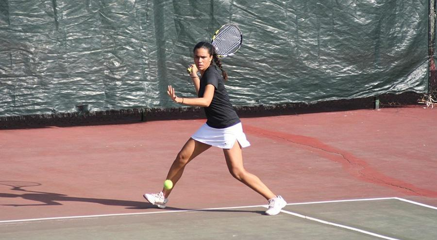 Women's tennis claimed multiple victories at the UAA championships in Florida. (Courtesy of NYU Athletics)