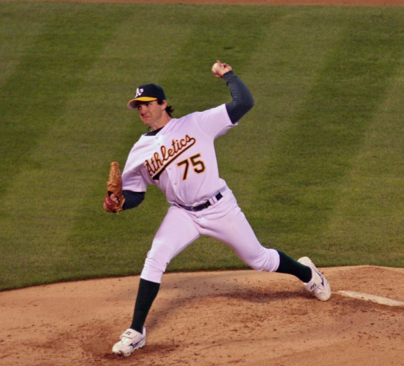 Barry Zito pitched for the Oakland Athletics from 2000 to 2006.