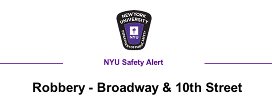 A robbery took place this weekend on 10th and Broadway.