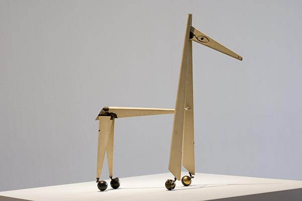 Picasso's sheet metal sculptures bring in crowds of viewers to look at his use of negative space to create surreal pieces.