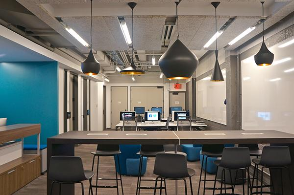 NYU's new LaGuardia co-op, opening Oct. 5, is similar to the E-Lab, providing a place for people to bring startup ideas.