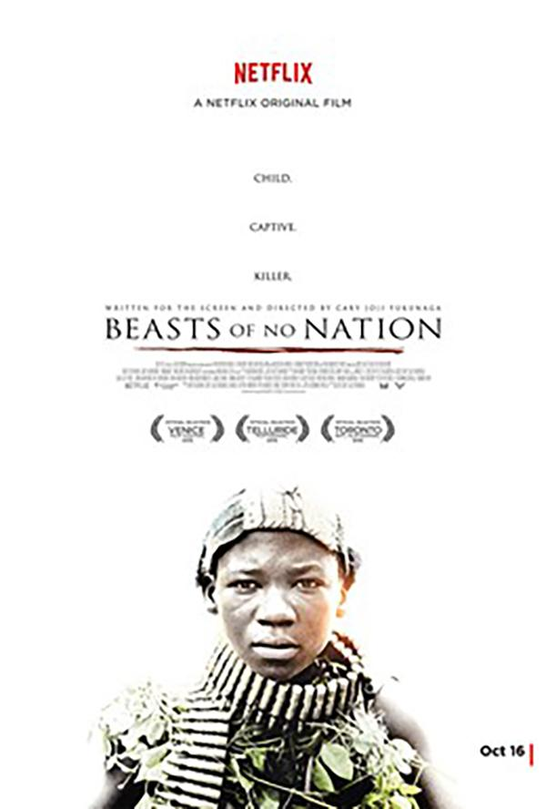 """""""Beasts of No Nation"""" is a 2015 American war drama film portraying the experiences of a young boy who survives as his country, Ghana, goes through a horrific war."""