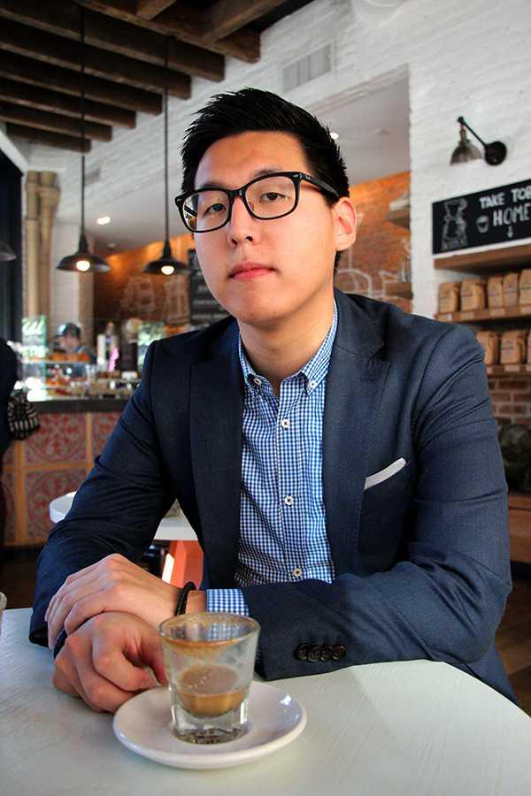 Arnold+Byun%2C+founder+of+the+coffee+club+at+NYU%2C+spoke+with+WSN+writer+Tiffanie+Hwang+in+a+coffee+shop+near+NYU+last+Thursday.