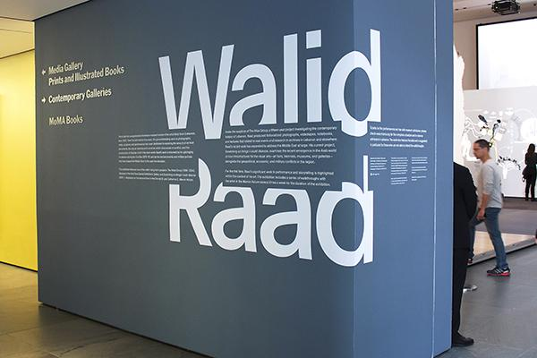 Contemporary artist Walid Raad's work will be displayed on the second and third floors of the MoMA until January 31, 2016.