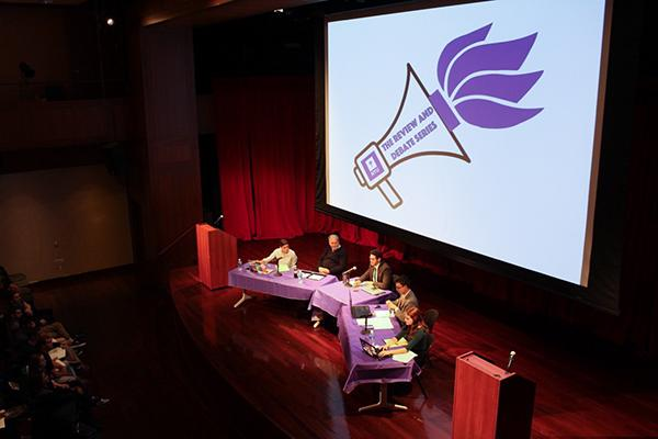 The Sexton Debate: Is Religion a Force for Good in Global Society was held at the Kimmel Center 27th October, 2015.