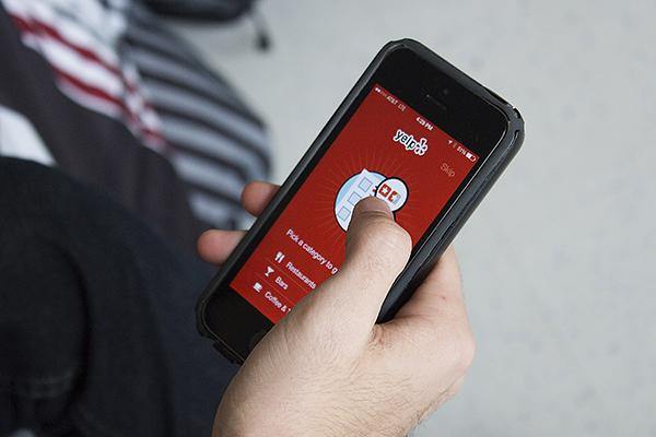 Yelp, an app NYU students commonly use to look for restaurants to grab a quick bite.