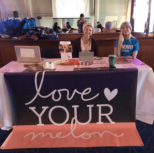 Members of NYU Love Your Melon tabled at the first Battle of the Bald event at NYU.