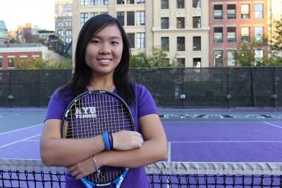 Carmen Lai is a CAS Junior on NYU's Tennis team.