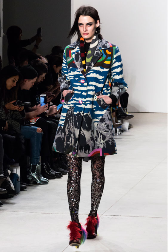 Mixed print tights were one of the many trends dominating this year's NYFW runway.