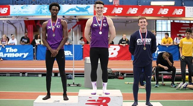 Matthew Powers (c) and Budd Brown (l) each earned three medals on Sunday.