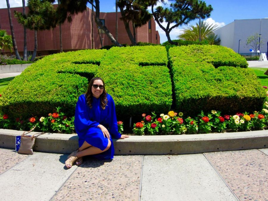 Transfer student Jessica Martinez, at her graduation from El Camino College