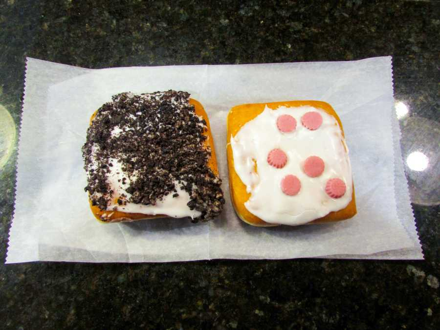Dunkin Donuts brought back old favorites, the raspberry cheesecake square and the Oreo cheesecake square, for their new spring menu.