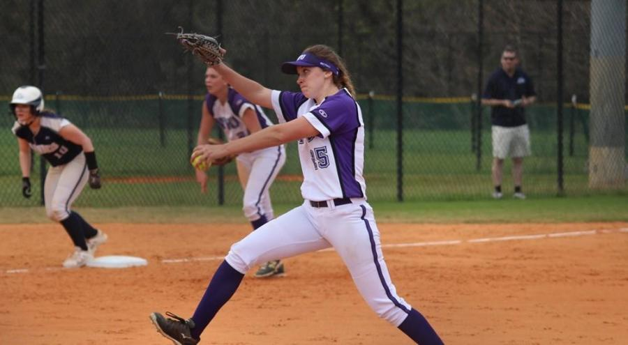 Freshman Cassi Parulis finished the game with four combined RBIs.