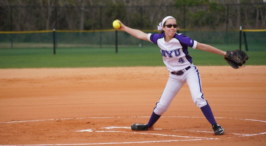 Olivia Mould pitched exceptionally for NYU's Women's baseball team.