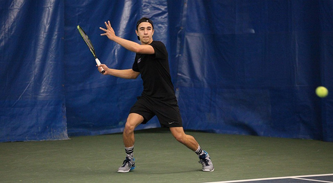 Freshman Benedict Teoh had a double victory against University of Rochester.
