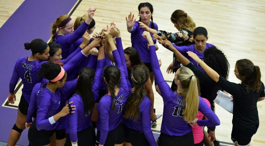Over the weekend, the women's volleyball team took three matches at the Hawk Invitational in New Palts, NY.