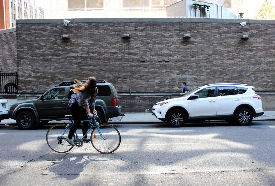 Biking is one of the ways students get around campus.