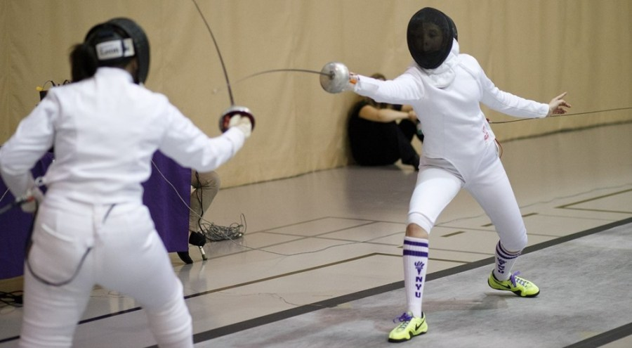 Stephanie Cunningham achieved the NYU Women's Fencing team's sole victory in its duel against Columbia on Tuesday.