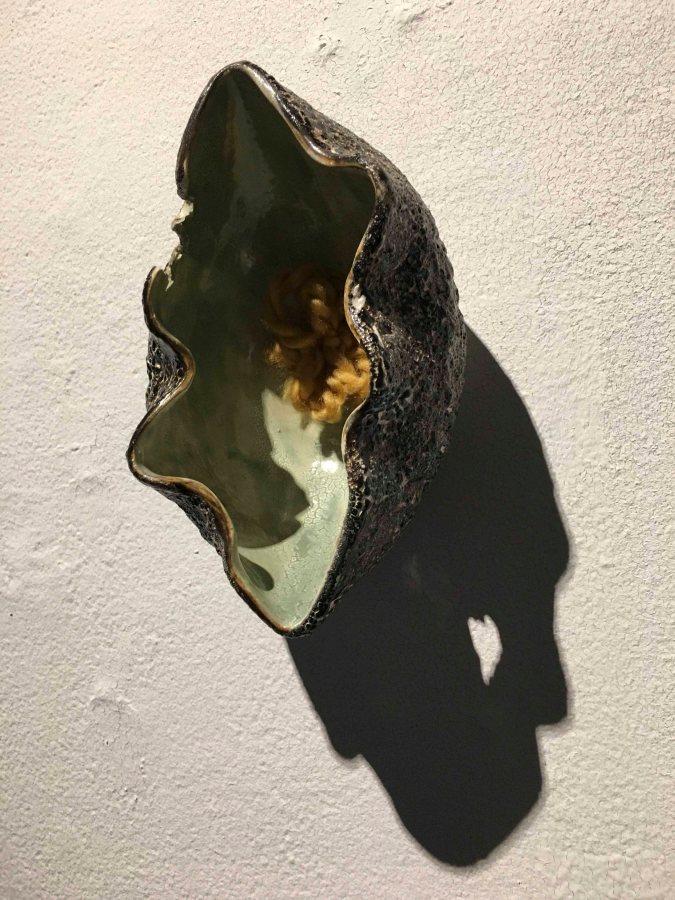 Sculptural piece by senior Christine Sersea