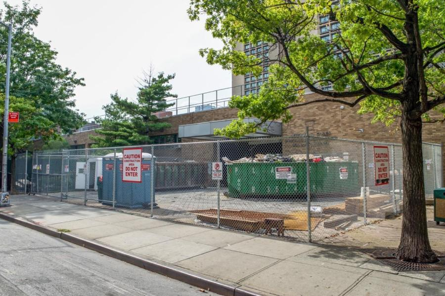 Ongoing construction on 181 Mercer St, on track to be used as student dormitories in 2022. (Photos by Euan Prentis)