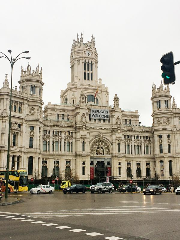The Cibele Palace in Madrid