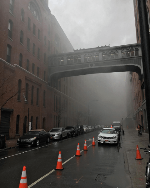 A fire at Chelsea Market earlier today caused hundreds of people to evacuate the building. Only one injury was reported and the fire was extinguished in less than an hour.