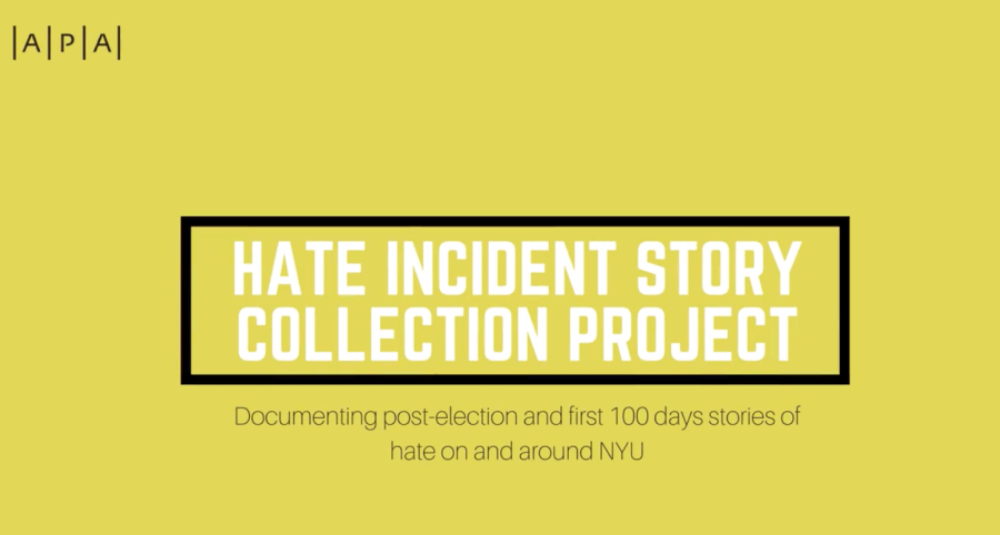 The Asian/Pacific/American Institute at NYU created a storytelling project that focuses on hate crimes faced by NYU students within the first 100 days of Trump's presidency.