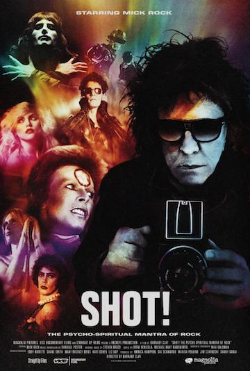 """""""Shot! The Psycho-Spiritual Mantra of Rock"""" highlights photographer Mick Rock, who captured famous shots of David Bowie and Iggy Pop, among others. The documentary  opens Friday, April 7 at the Metrograph at 7 Ludlow St."""