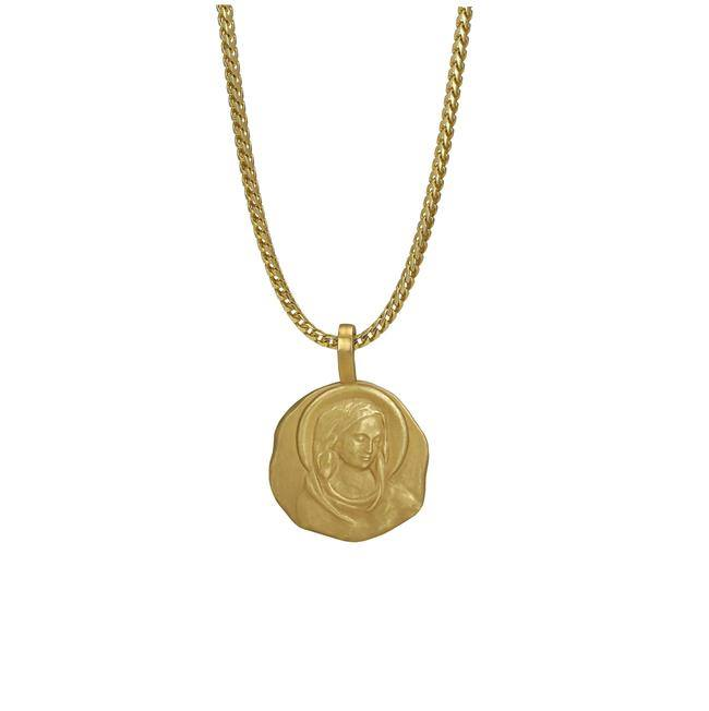 Kanye West has recently released a 12 piece jewelry collection inspired by 14th century art from Florence. West's jewelry are in a yellow gold color and are all 18 karats.