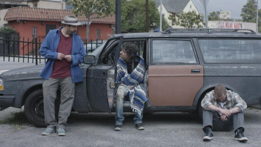 """Tommy Swerdlow as Tommy, TJ Bowen as TJ and Blake Heron as Blake chill in the car in """"A Thousand Junkies."""""""