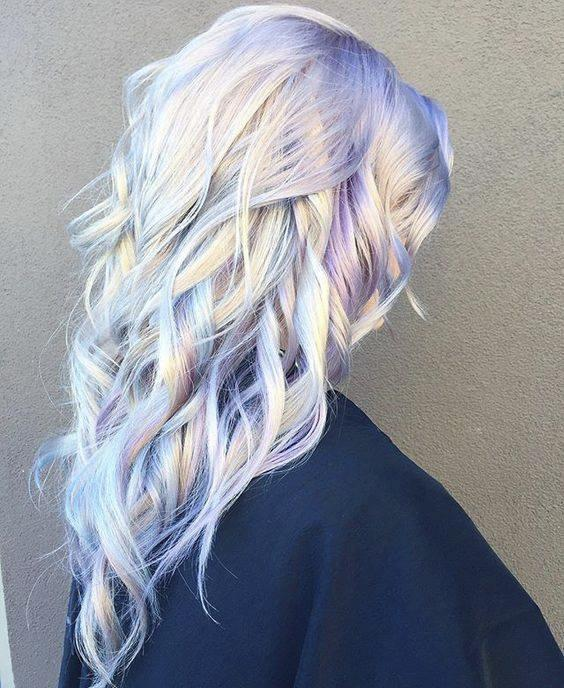 Pastel-colored hair, dubbed