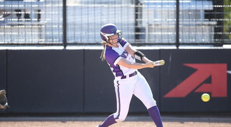 SPS sophomore Ashley Mains had a two-run triple in the March 29 game against Stevens Institute of Technology.