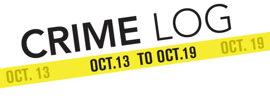 Crime Log: Oct. 13 to Oct. 19