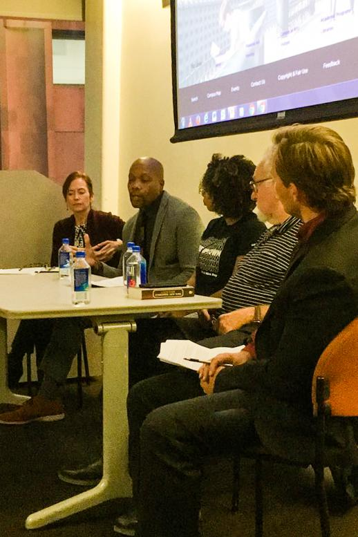 Panelists share their on gentrification on Bella Quisqueya's Gentrification Panel on the evening of Oct. 16.