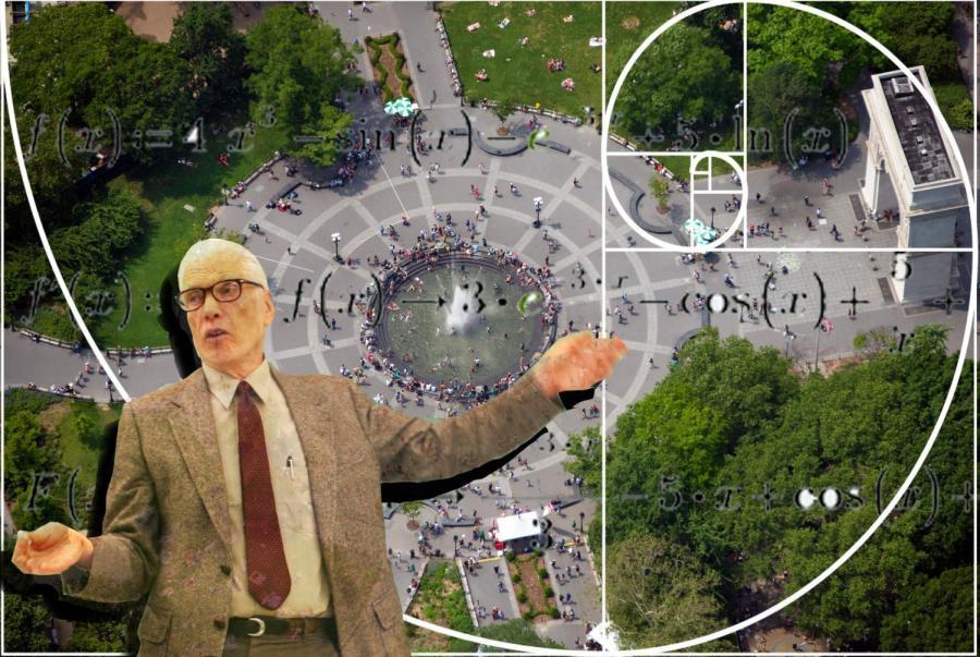 Professor Samuel Berger routes a path through Washington Square Park using quantum computing.