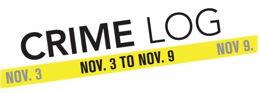 Crime Log: Nov. 3 to Nov. 9