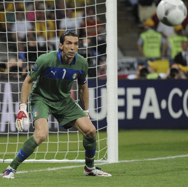 Gianluigi Buffon at the Euro 2012 finals in Kiev, Ukraine.