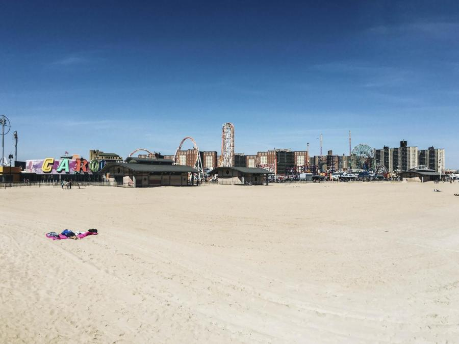 Coney Island makes for a great and unconventional picnic site and offers classic and cinematic New York views.
