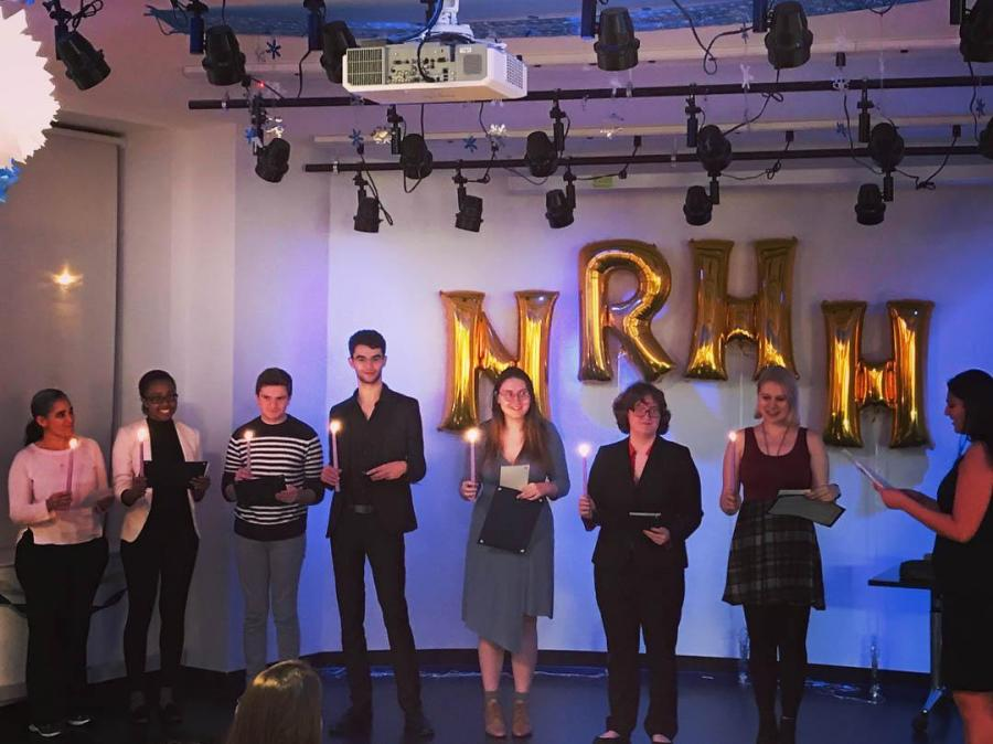 Each semester, National Residence Hall Honorary holds an induction ceremony to welcome new members.