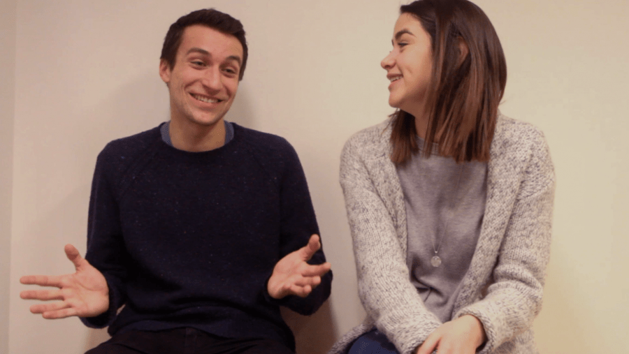Alex Bazeley (left) and Gabriella Bower (right), are a couple that participated in the Love and Sex Issue interview.