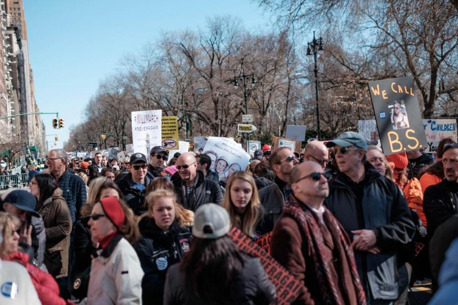 March for Our Lives in Central Park on Saturday, March 24.