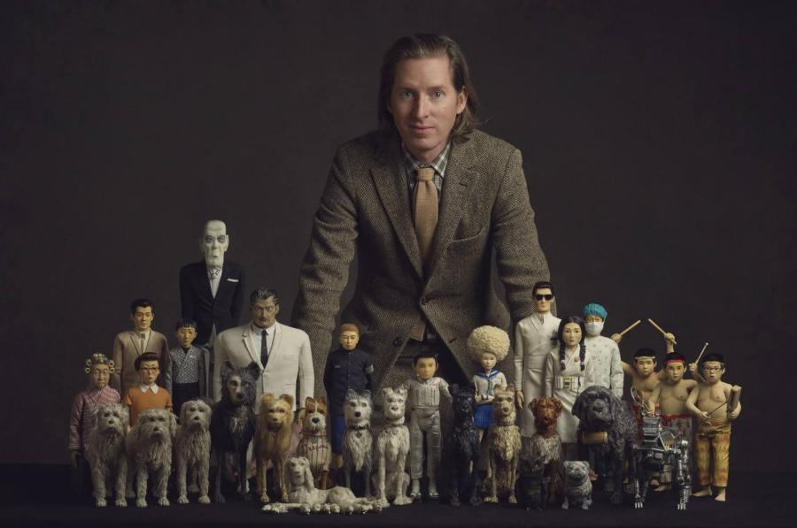 %22Isle+of+Dogs%22+director+Wes+Anderson+with+his+miniature+cast+of+dogs%2C+heroes+and+villains.