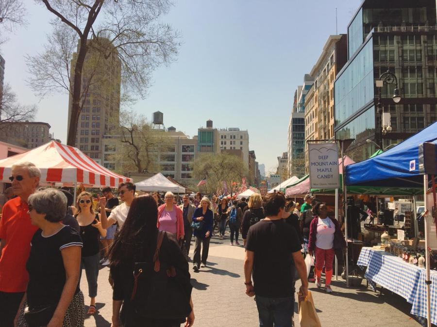 Eating local is possible at the Union Square Farmers' Market, open on Mondays, Wednesdays, Fridays and Saturdays from 8am-6pm