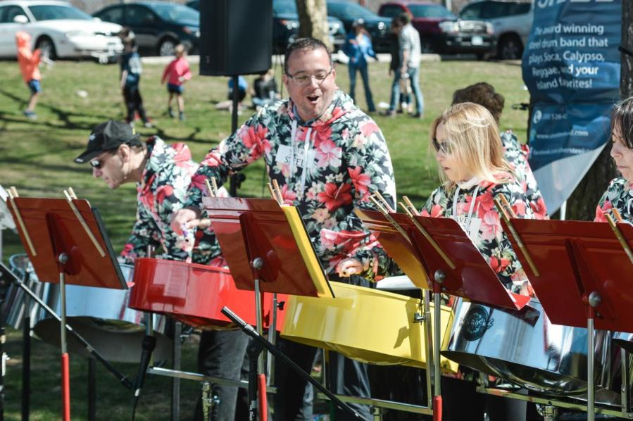 """Silver Steel Band performs """"Under the Sea"""" from Disney's """"The Little Mermaid"""" at the Maker Faire in Westport, Connecticut."""