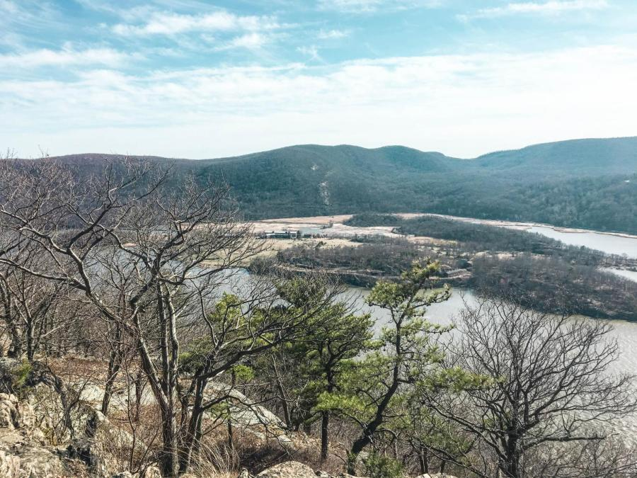 Hiking in Bear Mountain State Park in Rockland County, NY.