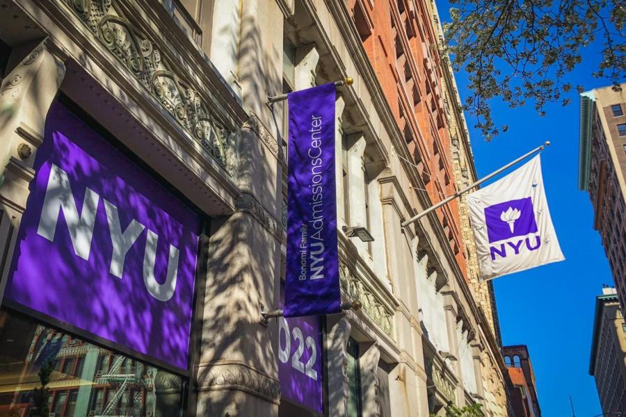 NYU's new Admissions Center.