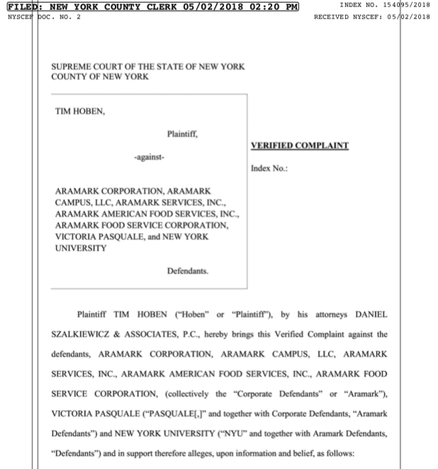 The+Former+Downstein+Manager%E2%80%99s+%245+Million+Lawsuit+Against+NYU+and+Aramark%2C+Explained