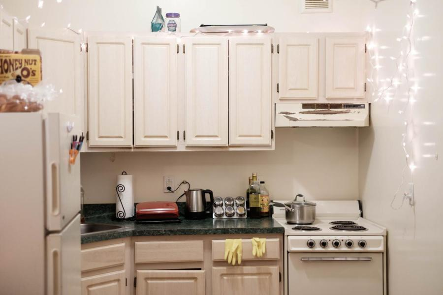A student dorm Kitchen in Greenwich Hall